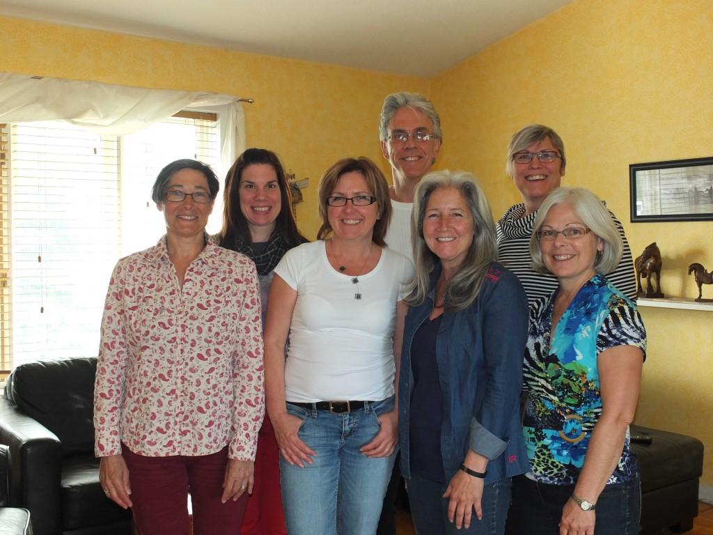 Denise Tanguay, Mélanie Beauregard, Linda Boudreau, Denis Roy (accompagnateur), Nicole Lanoue, Louise Bourque (accompagnatrice) et Diane Gaucher